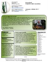 Nieuwsbrief nr.1 September 2013