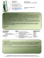 Nieuwsbrief nr.3 April 2014