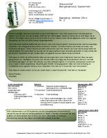 Nieuwsbrief nr.5 Oktober 2014