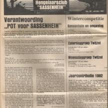 Clubblad 1981 pag 1