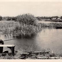 Ansichtkaart Haren hengelplas Sassenhein zz Vissers Hengelsport 1947